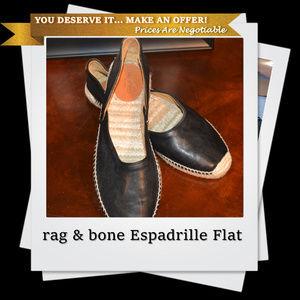 NWOB | rag & bone Espadrille Flat in Black